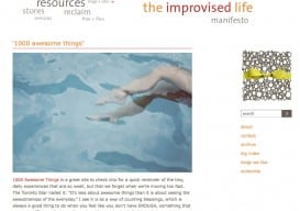 improvised life homepage '09