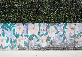 concrete block wall - painted