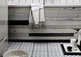 patchwork bathtub