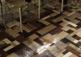 scrapwood floor