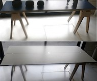 hinged folding table top