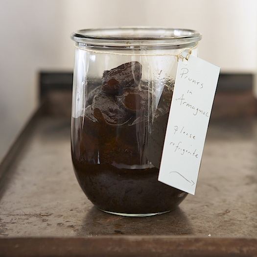 prunes in armagnac, homemade food gifts