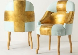 gold painted chair