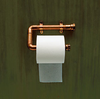 pipe toilet paper holder