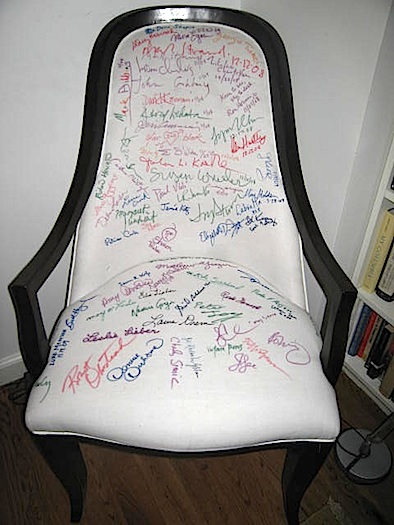 autographed guest chair
