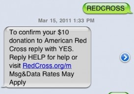 text to donate red cross