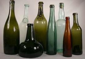 wine bottle array