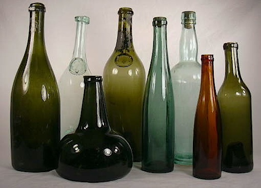 wine bottles used as water decanter
