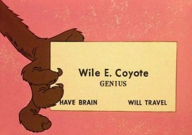 Wile E Coyote's card