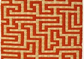 'red meander' anni albers