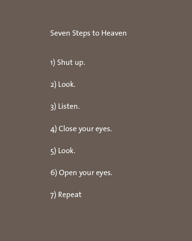 Don Wentworth poem Seven Steps to Heaven