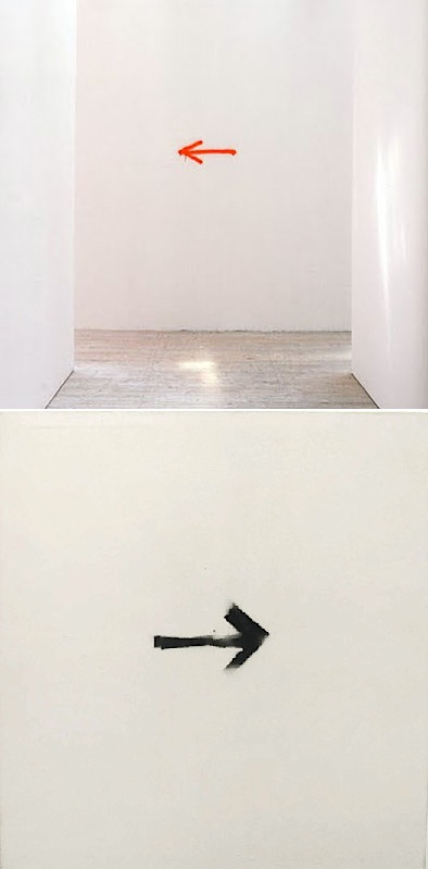 arrow paintings David Shrigley + Martin Barré