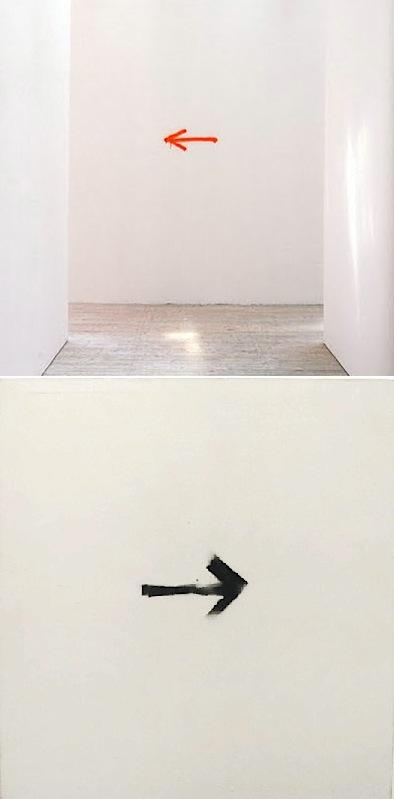 arrow paintings David Shrigley + Martin Barré