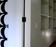 black or colored door hinges