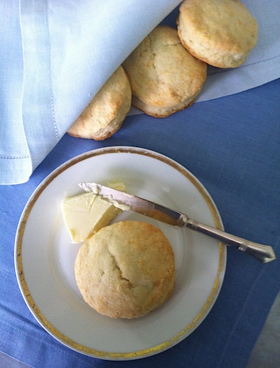 cream biscuits with butter