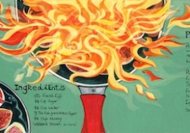 illustrated figs flambe recipe