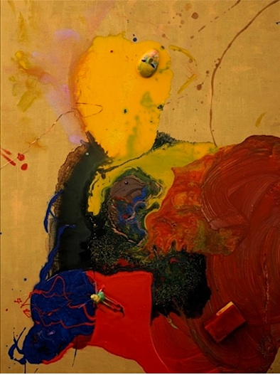 Aelita Andre painting Yellow Thinking Man