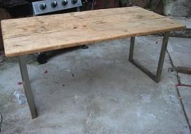 rustic modern table sanded ikea legs