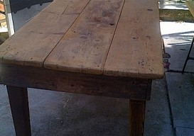 rustic antique table to hack