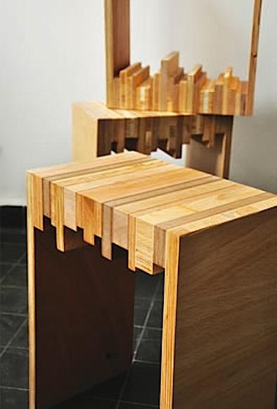 stool of scrap wood 394
