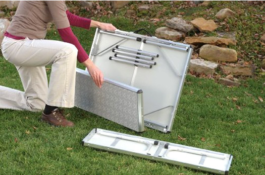 Coleman PackAway picnic table assembly