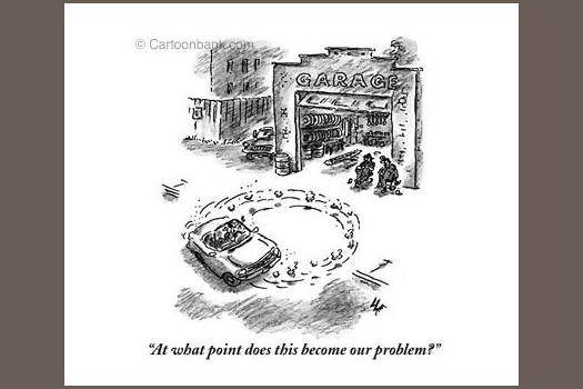 "New Yorker cartoon Frank Cotham ""problem"""
