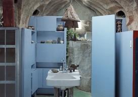 Paulo Soleri Archosanti Bathroom cabinet shelves