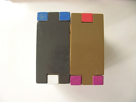 interlocking colorful building block set