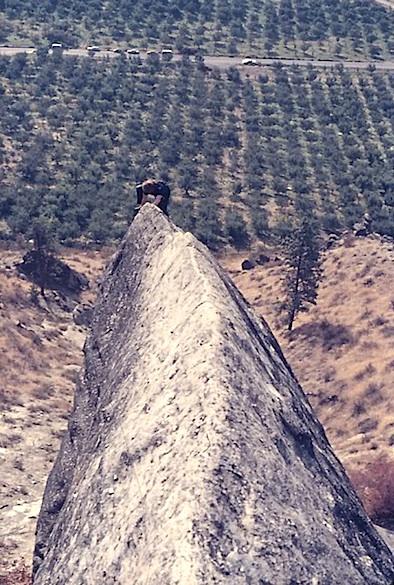 climbing mountains reaching the top