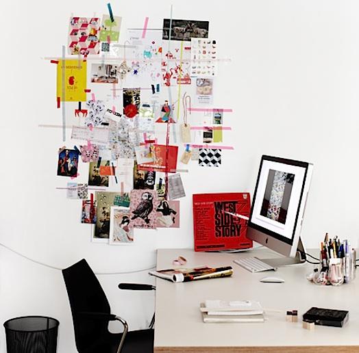 colored washi tape mood board idea board