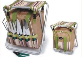 folding stool carryall with toolholder