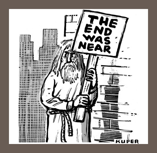 "New Yorker Cartoon ""The end was near"""