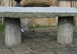 slab and stone table