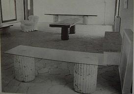 table on blocks or pillars Casa Malaparte