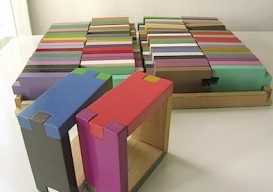 interlocking colored building blocks