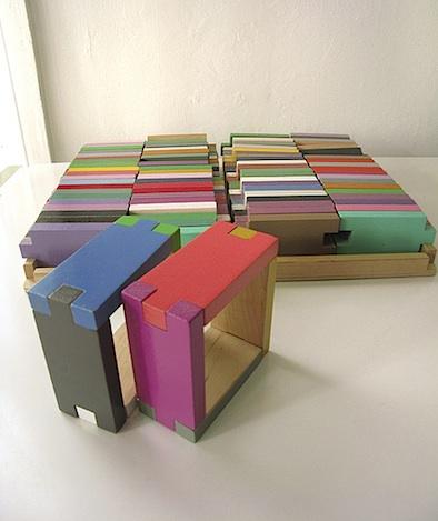interlocking colored building blocks