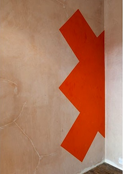 Ernst Caramelle painted wall via mary Mary Gallery