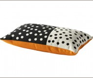 Ikea Vilmie Blom polka dot pillow