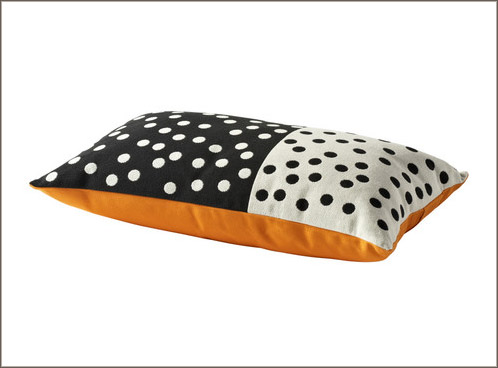 Ikea Vilmie Blom polka dot pillow
