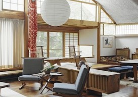 Nakashima Living paper shade room light Noguchi