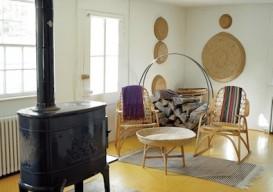 Constantino Nivola tractor paint yellow floors