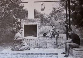 Constantino Nivola outdoor hearth room