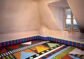 geometric artistic painted floor