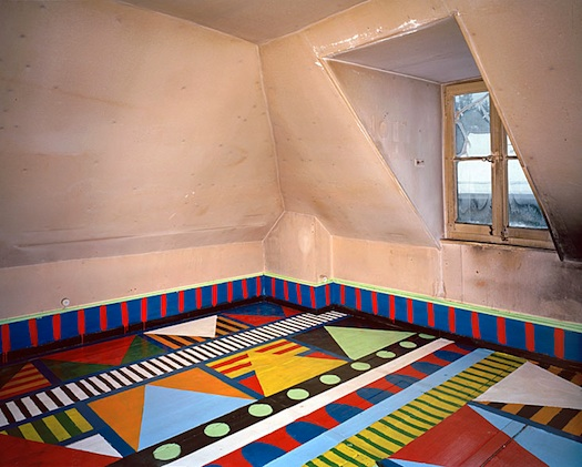 geometric artistic painted floor