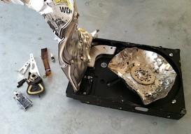 smashed hard drive 1