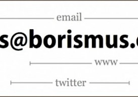 minimalist business card by Boris