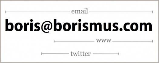 minimalist business card by Boris