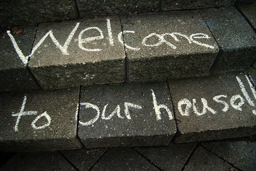 chalk welcome mat
