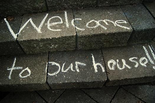 chalk welcome mat