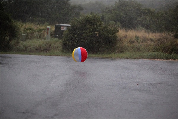 beach ball, hurricane Irene